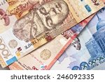 kazakh tenge money.background | Shutterstock . vector #246092335