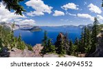 Crater Lake Panorama In Oregon...