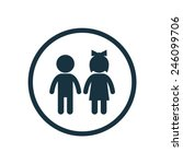 girl and boy icon on white background  | Shutterstock vector #246099706