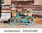 Vintage Bicycle On Vintage...