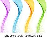 set of color wave design element | Shutterstock .eps vector #246107332