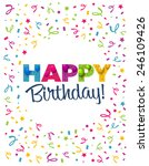 happy birthday greeting card | Shutterstock .eps vector #246109426