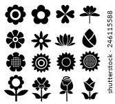 flower set icons.vector | Shutterstock .eps vector #246115588