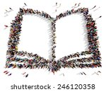 large group of people seen from ... | Shutterstock . vector #246120358