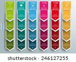 oblong banners 6 options on the ... | Shutterstock .eps vector #246127255