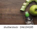 bottle of water  measuring tape ... | Shutterstock . vector #246134185
