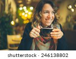 woman with smart phone in... | Shutterstock . vector #246138802