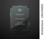 certificate design template on... | Shutterstock .eps vector #246140602