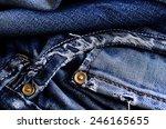 Background Of Denim Blue Color...