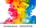liquid color in motion | Shutterstock . vector #246169318
