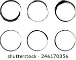 set of vector grunge circle... | Shutterstock .eps vector #246170356