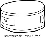 outlined single cartoon round... | Shutterstock .eps vector #246171955