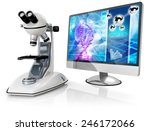 microscope and computer... | Shutterstock . vector #246172066