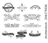 retro vintage insignias or... | Shutterstock .eps vector #246175036