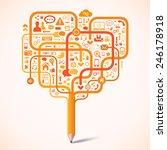 pencil tree network | Shutterstock .eps vector #246178918