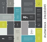 conceptual flat template.... | Shutterstock .eps vector #246181045