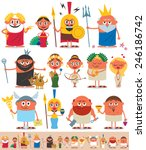 set of cartoon greek   roman... | Shutterstock .eps vector #246186742