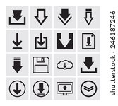 set of download icons for web... | Shutterstock .eps vector #246187246