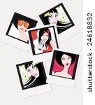 vector girls'  instant photo...   Shutterstock .eps vector #24618832