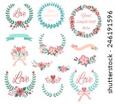 romantic set with labels ... | Shutterstock .eps vector #246191596