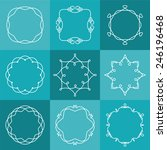 set of abstract bitmap outline... | Shutterstock . vector #246196468