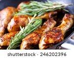 roasted chicken | Shutterstock . vector #246202396