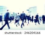 commuter business people... | Shutterstock . vector #246204166