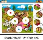 cartoon illustration of match... | Shutterstock . vector #246205426