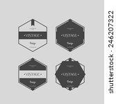 vector set vintage labels | Shutterstock .eps vector #246207322