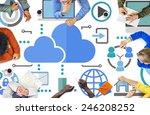 brainstorming sharing online... | Shutterstock . vector #246208252