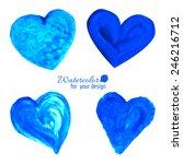 Blue Heart Set On A White...