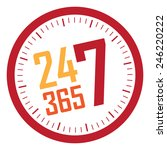 red 24 7 365 service is... | Shutterstock . vector #246220222