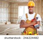 construction worker in  new... | Shutterstock . vector #246224482