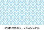 seamless blue isometric... | Shutterstock . vector #246229348