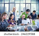 business people team teamwork... | Shutterstock . vector #246229588