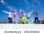 group of friends have a good... | Shutterstock . vector #246233632