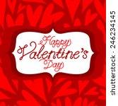 vector valentine background...   Shutterstock .eps vector #246234145