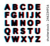 bold stereo alphabet | Shutterstock .eps vector #246234916