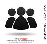 business team icon | Shutterstock .eps vector #246234922