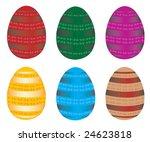 easter eggs  vector  for more ...   Shutterstock .eps vector #24623818