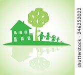 family with house  conceptual.... | Shutterstock .eps vector #246252022