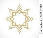oriental arabic pattern | Shutterstock .eps vector #246257206