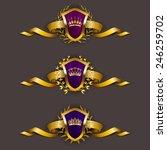 set of luxury golden vector... | Shutterstock .eps vector #246259702