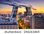 madrid  spain financial... | Shutterstock . vector #246261865