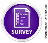 survey purple glossy round... | Shutterstock . vector #246285208