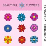 backgrounds floral theme. the...   Shutterstock .eps vector #246290758