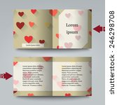 brochure template with love... | Shutterstock .eps vector #246298708