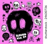 skull doodles collection.... | Shutterstock .eps vector #24630736