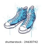 hand drawn sneakers. vector... | Shutterstock .eps vector #24630742