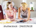 two attractive women at... | Shutterstock . vector #246319618